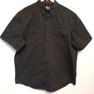 HARLEY-DAVIDSON Black Button Down with Skull shirt